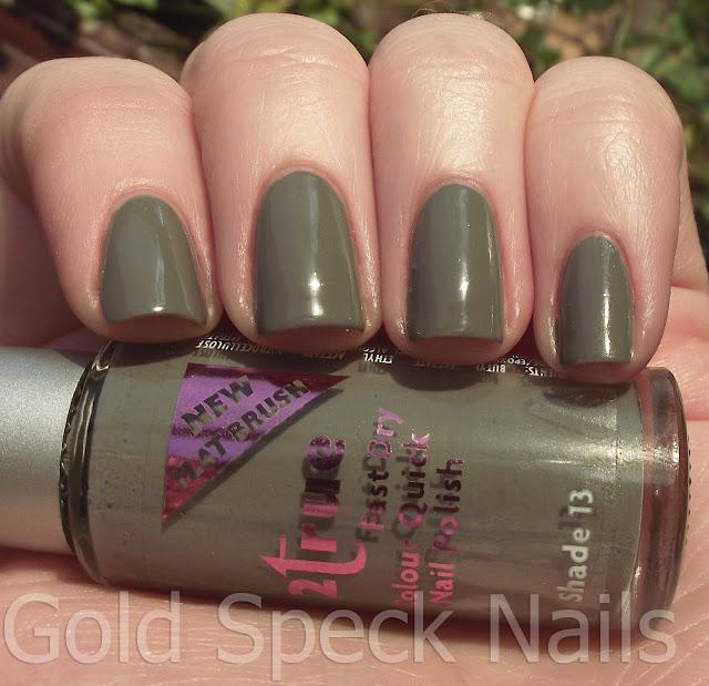 Nyc Metallic Nail Polish: Gold Speck Nails: 2true