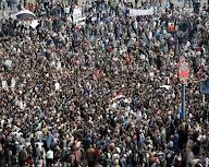 ميدان التحرير اثناء ثورة 25 يناير