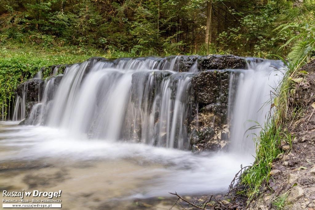 Największy wodospad na Roztoczu - rzeka Jeleń