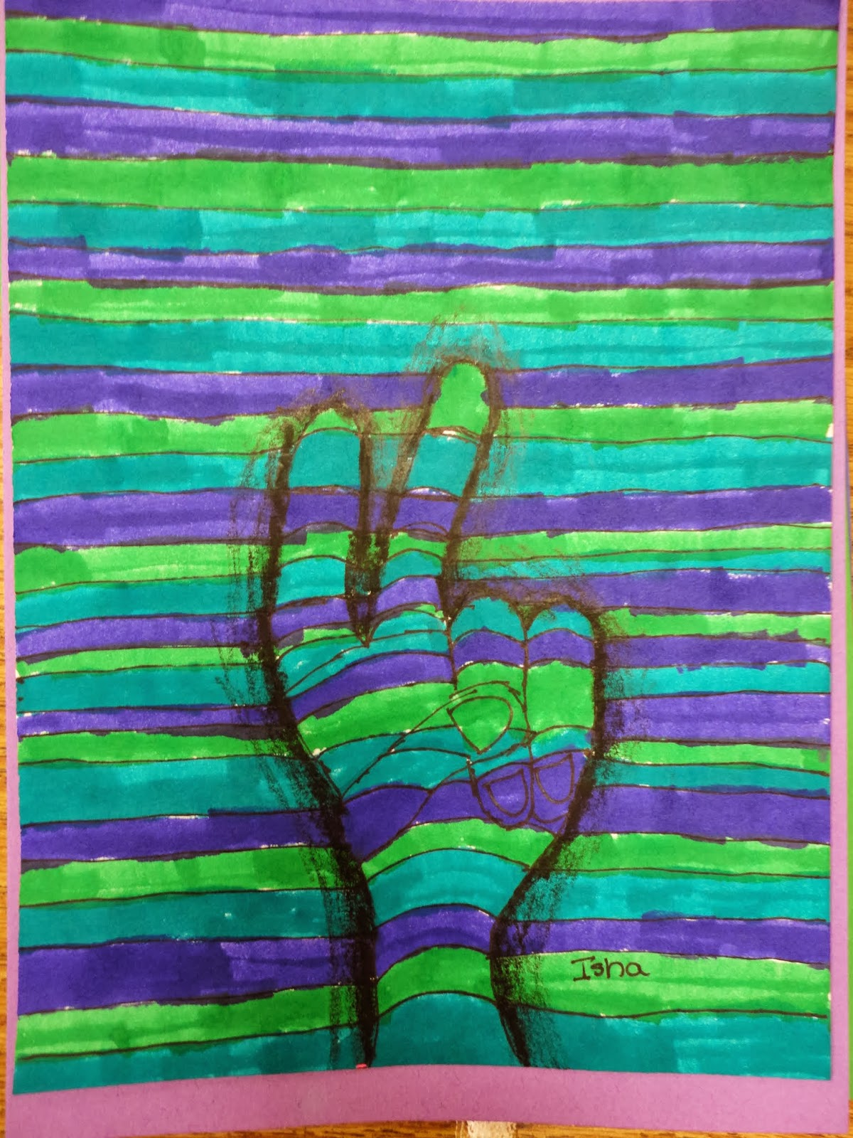 Mrs. Elder\'s World of Art: 5th grade op art hands