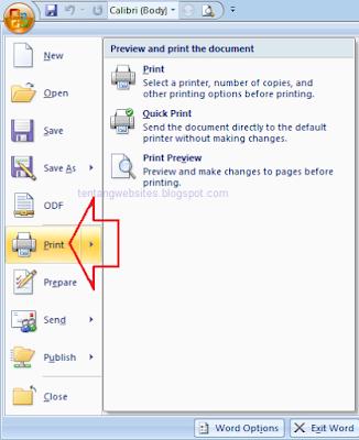 Cara print out dengan kertas A4
