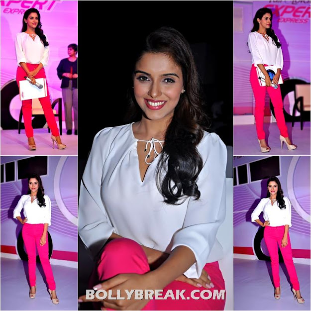 Asin in Hot Pink Pants White Top - Latest