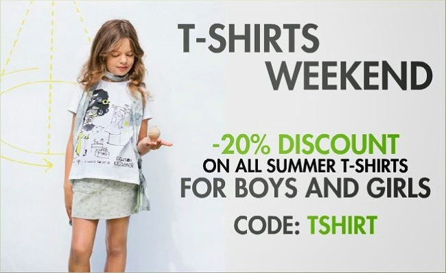 20% Discount on All Summer T-shirts for Boys and Girls