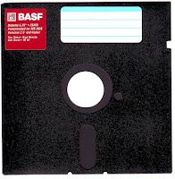 Cla´sico disquete negro de 5 1/4