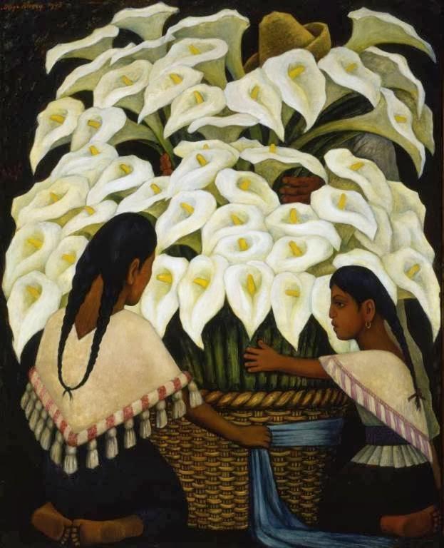 Diego Rivera, marchande de lys, 1943