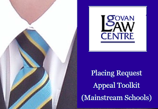 Placing Request Appeal Toolkit (Mainstream Schools) published by Govan Law Centre 2014