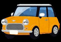 コンパクトカーのイラスト(黄)
