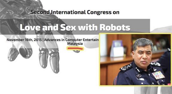 KPN Beri Amaran Kepada Penganjur Persidangan Cinta dan Seks Dengan Robot