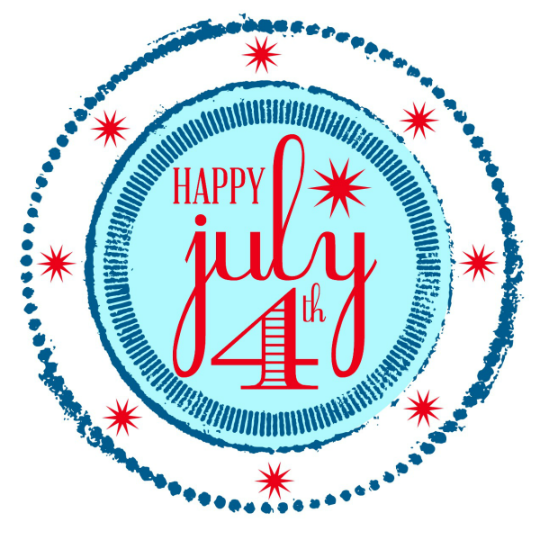 Happy July 4th Printable @ Blissful Roots