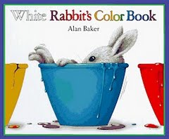Pen Pals & Picture Books: a white rabbit & mess free color mixing