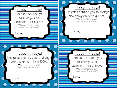 Click through to grab these FREE student grade passes. If you've put off buying your students gifts, this is a great last minute gift option! Use it for your 2nd, 3rd, 4th, 5th, or 6th grade students. They will be able to redeem the pass on ONE assignment to change the grade to 100%. Get yours now!