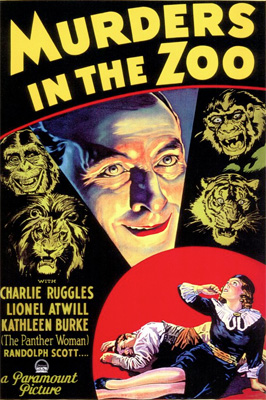 Poster - Murders in the Zoo (1933)