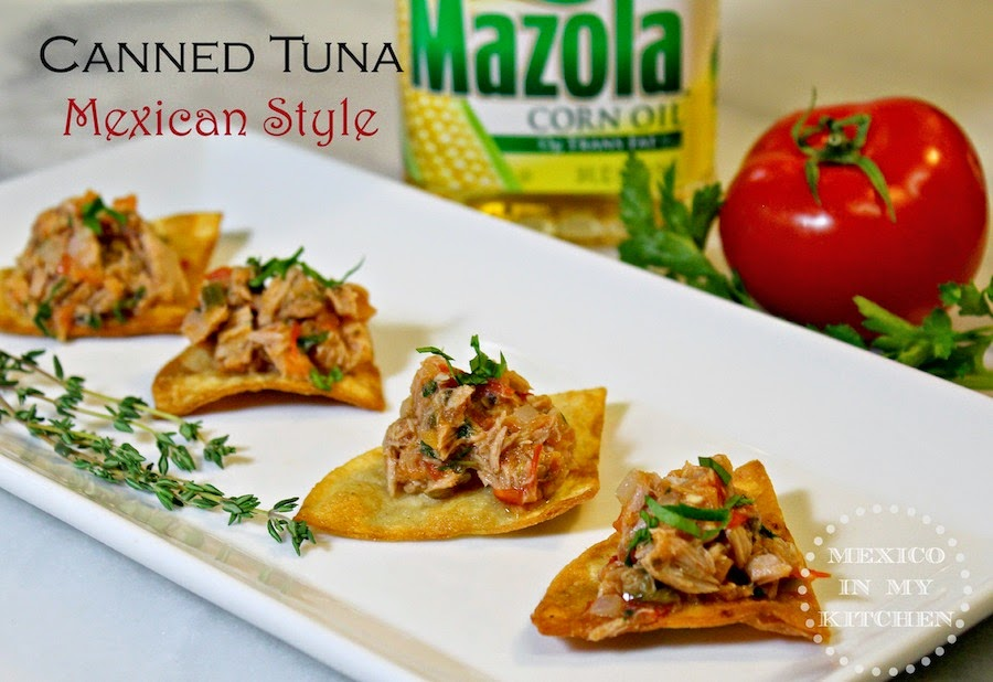 Canned tuna mexican style traditional homestyle mexican for Canned fish recipes