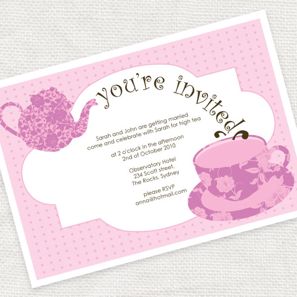 I do it yourself something new tea time invites ive been meaning to design these invitations ever since my very respectable bridal shower mystic high tea at the observatory hotel which i highly solutioingenieria Choice Image