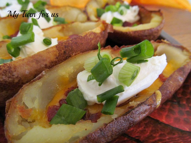 Potato skins that are easier than you think! http://www.myturnforus ...
