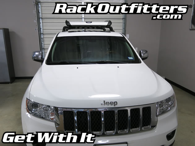 New Thule 865 Trail Basket Roof Top Cargo Carrier On Jeep Grand