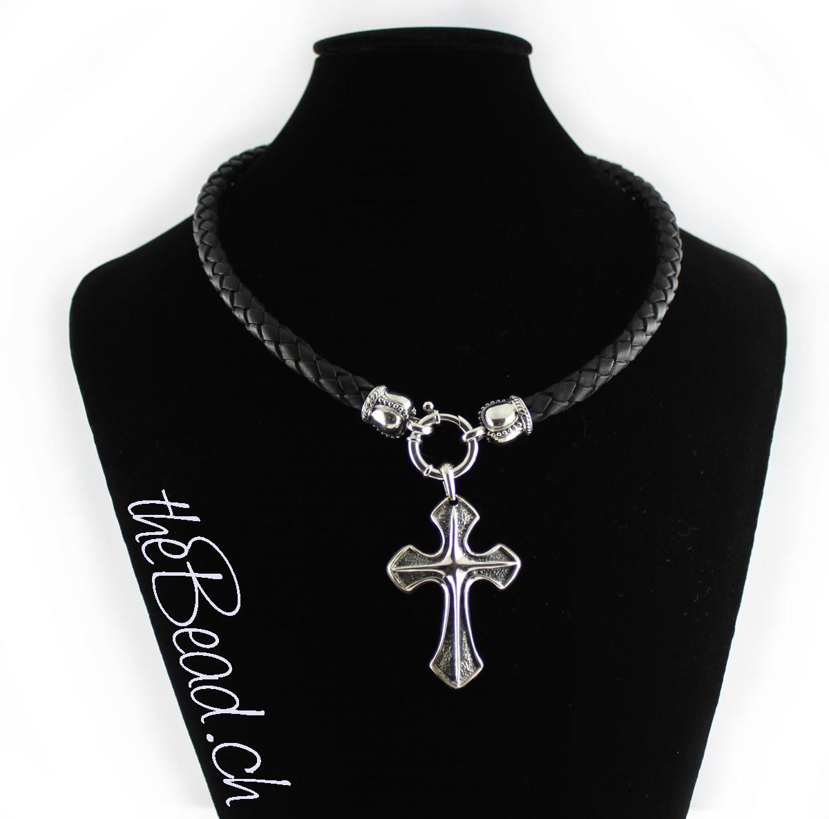 Grosser Kreuz Anhänger Silberschmuck vom Schweizer Online Shop theBead