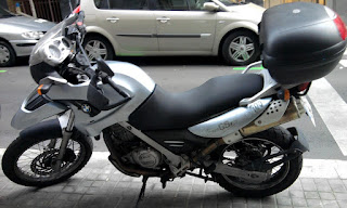 Tapizado asiento moto bmw gs