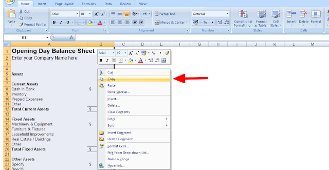 Change all text to capitals in excel