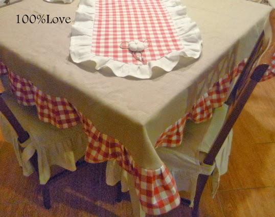 100 love tovaglia country - Tovaglie da tavola plastificate ...