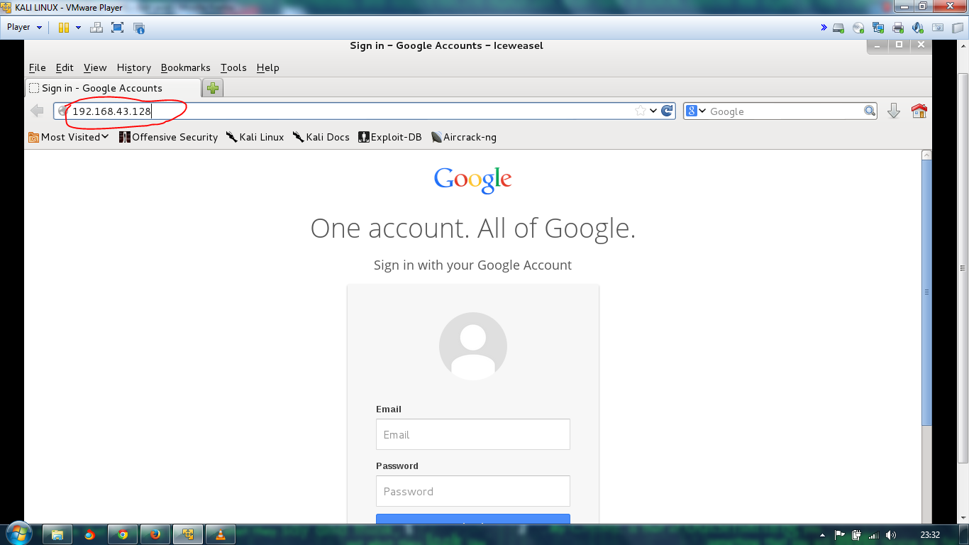 Hacking gmail account using social engineering tool kit in