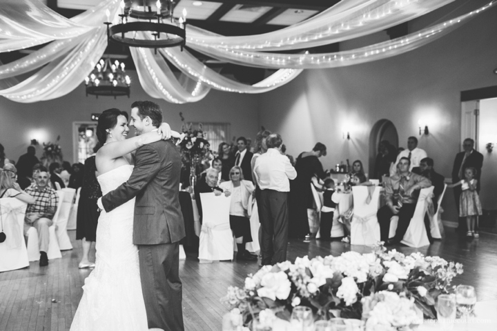 bride-and-groom-first-dance-at-country-club-wedding