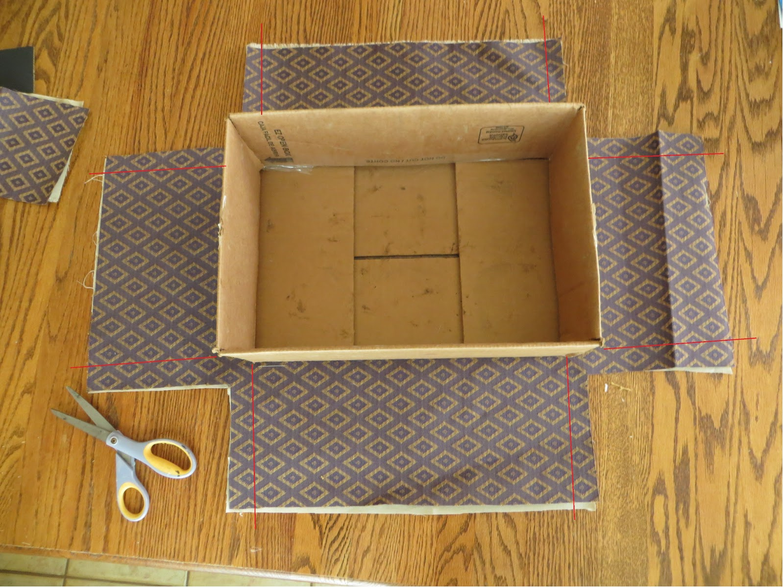 Namely Original How To Cover A Box In Fabric