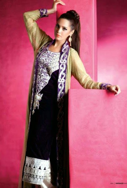 EmbroideredPartyWearDresses2014 wwwfashionhuntworldblogspotcom 01 - Embroidered Party Wear Collection 2014 By Sadaf Amir