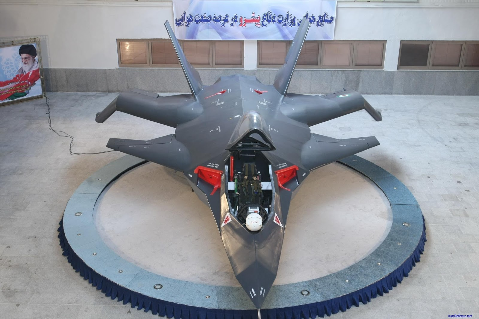 Iranian qaher f-313 stealth fighter jet prototype/mock up