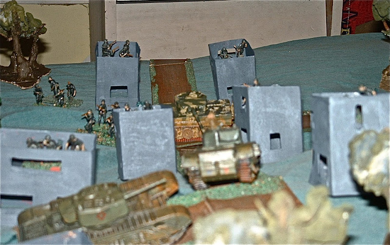 Turn Three: The Churchills start moving into the town. The Tiger tank  title=