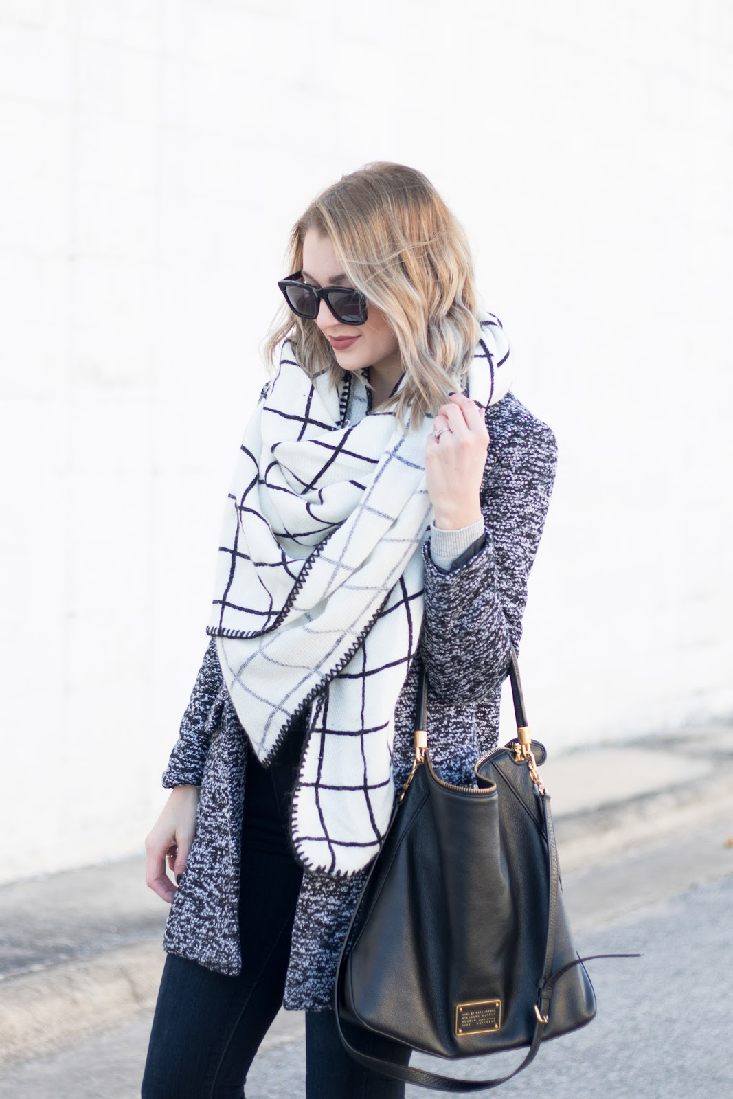 Neutral blanket scarf