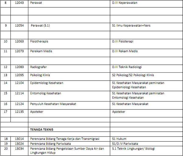 Lowongan CPNS 2013 Daerah Istimewa Yogyakarta