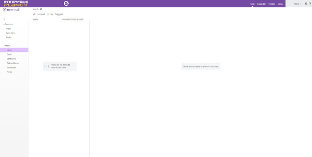 Microsoft Outlook Web App Mail Page
