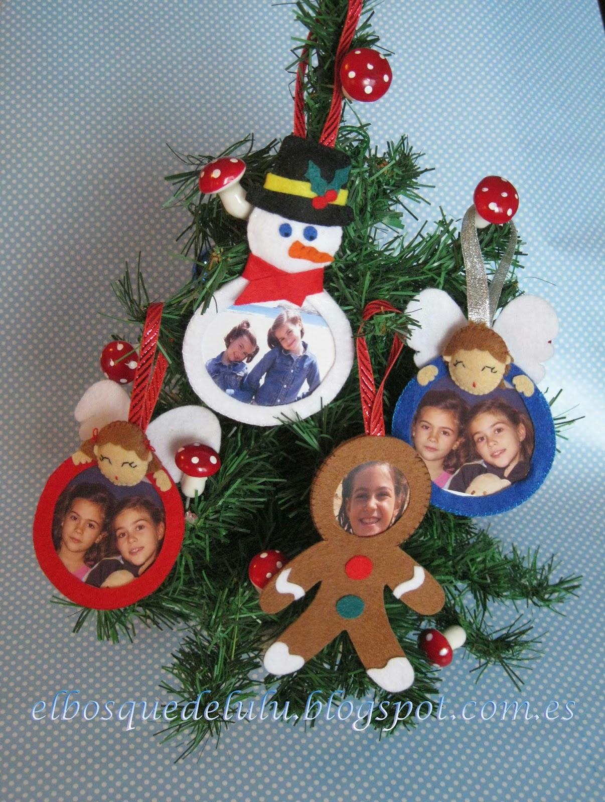 adornos-árbol-Navidad-fieltro-regalo-foto-decoración-navideña-regalo-personalizado
