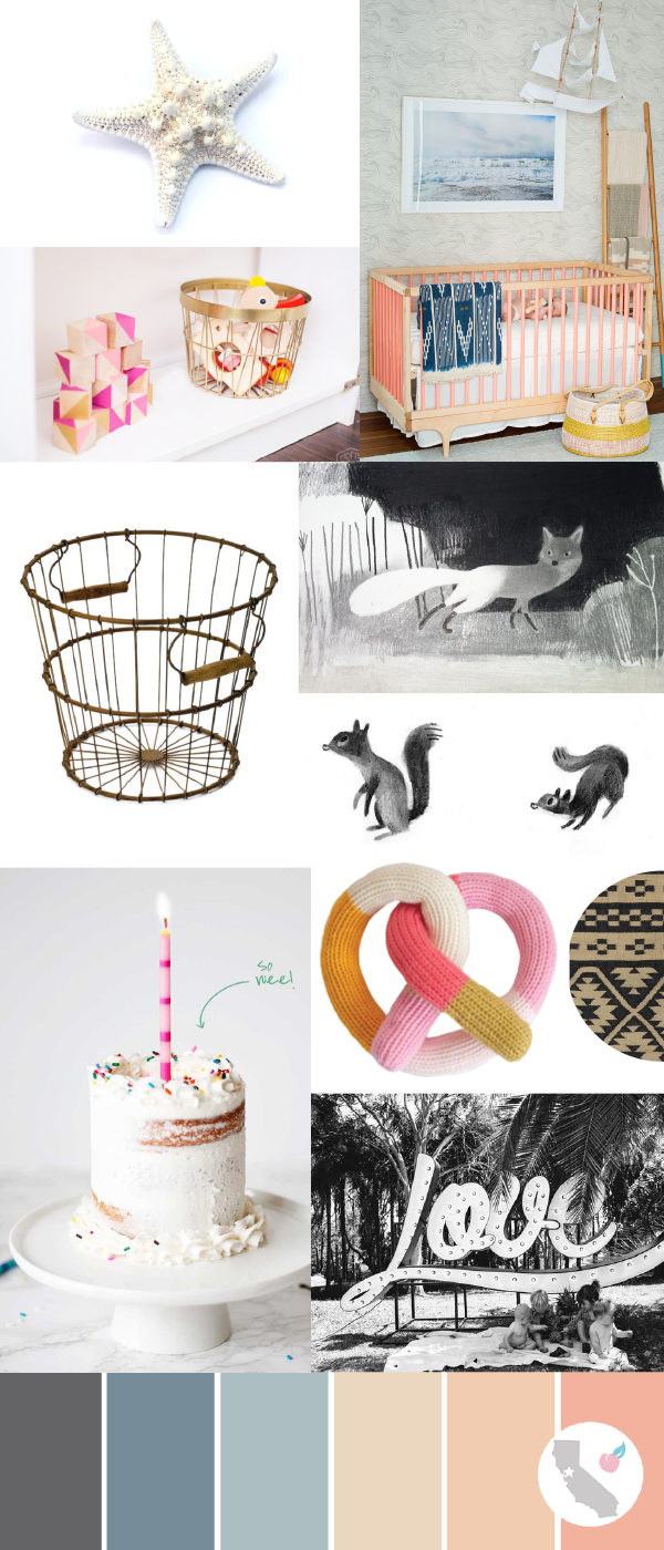 Eclectic Girl Nursery Inspiration Board