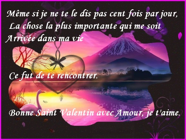 Message d 39 amour et d 39 amiti carte saint valentin avec - Message original saint valentin ...