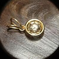 483:中古 ブラウンダイヤモンド 1.6ct K18枠 ペンダント