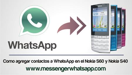 Como agregar contactos a WhatsApp en el Nokia S60 y Nokia S40