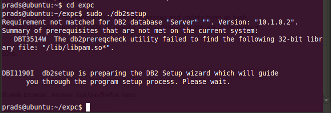 How to install DB2 in ubuntu