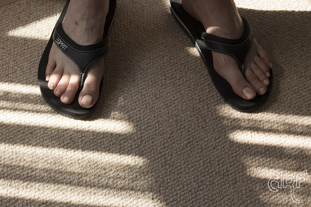 feet in shadows