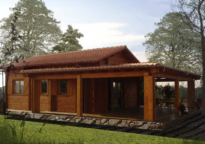 Progetti di case in legno casa 51 mq portico 37 mq - Prezzo casa prefabbricata in legno ...