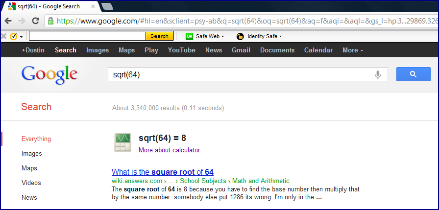how to find suare root in calculator
