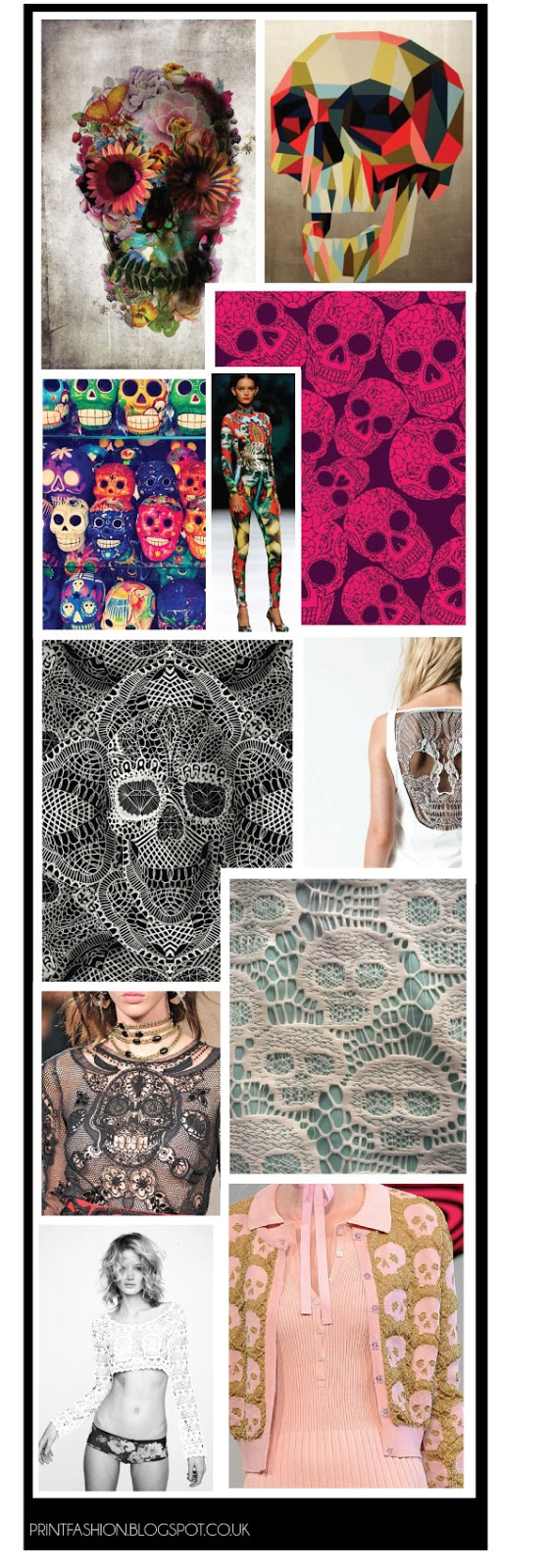 skull fashion prints