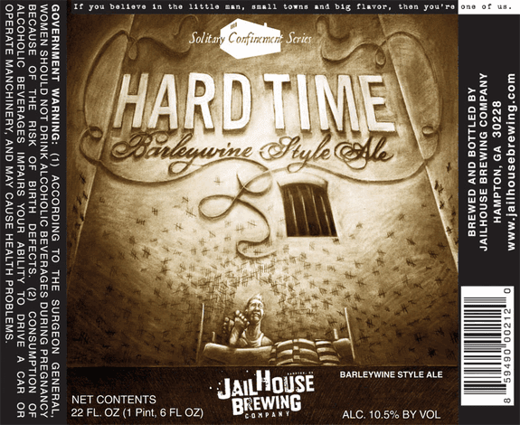 Jailhouse Brewing Hard Time label