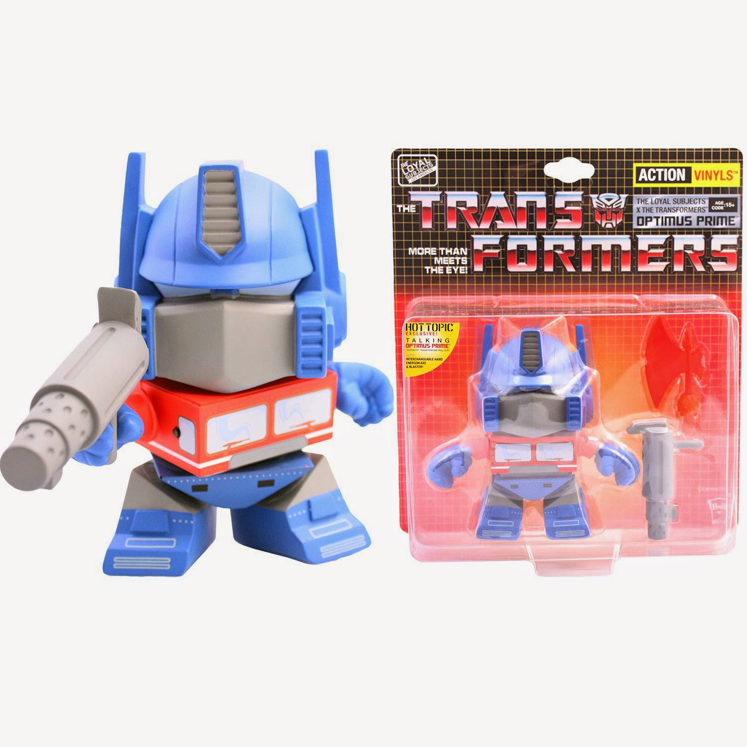 "Transformers 5.5"" Vinyl Figures by The Loyal Subjects - Talking Optimus Prime"