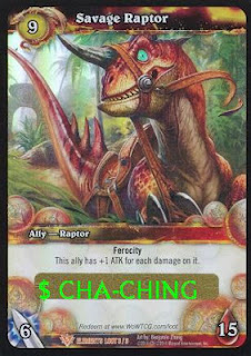 Savage Raptor WoW TCG Mount Card