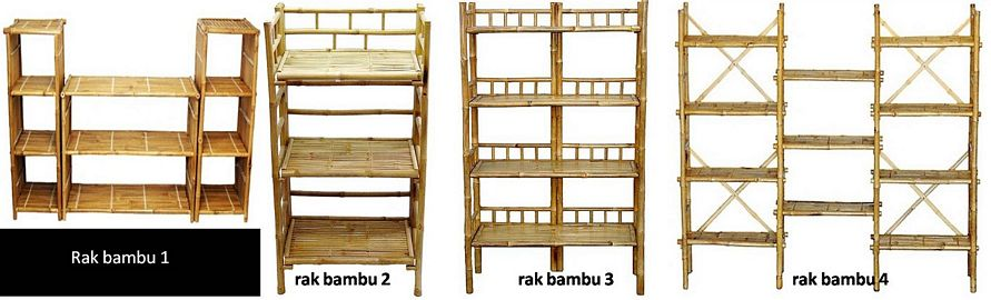 ide gambar aneka rak dari bambu terlihat bagus