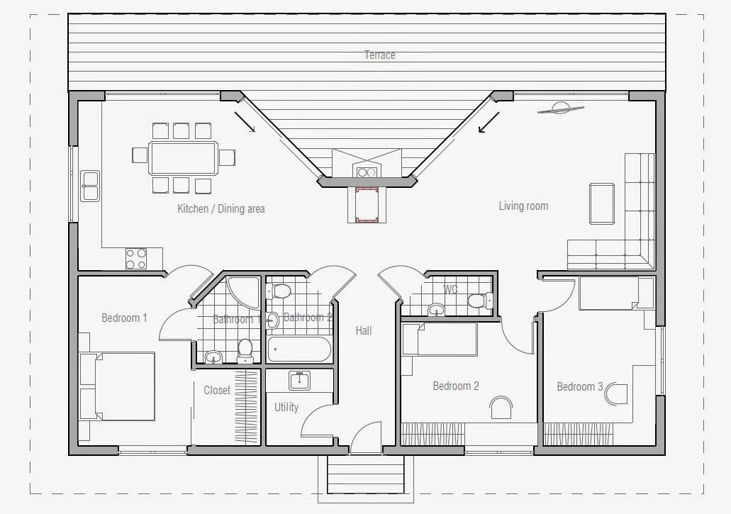beach house plan ch61 version 1