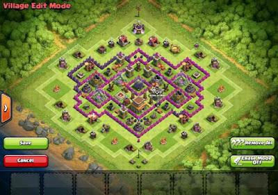 Town Hall 8 Base Prematur Terkuat Farming