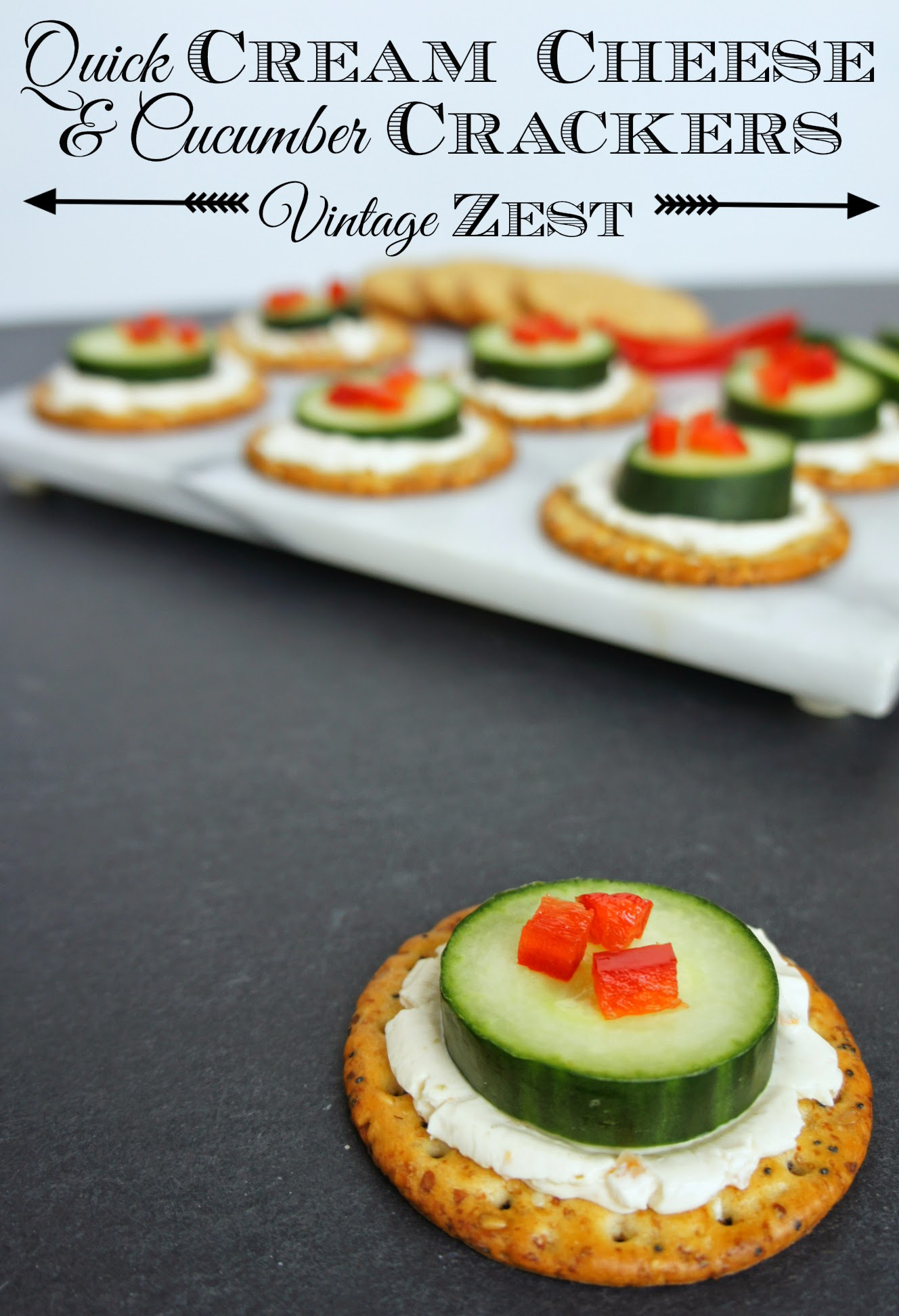 #shop Quick Cream Cheese and Cucumber Crackers on Diane's Vintage Zest! #SpreadtheFlavor #CollectiveBias